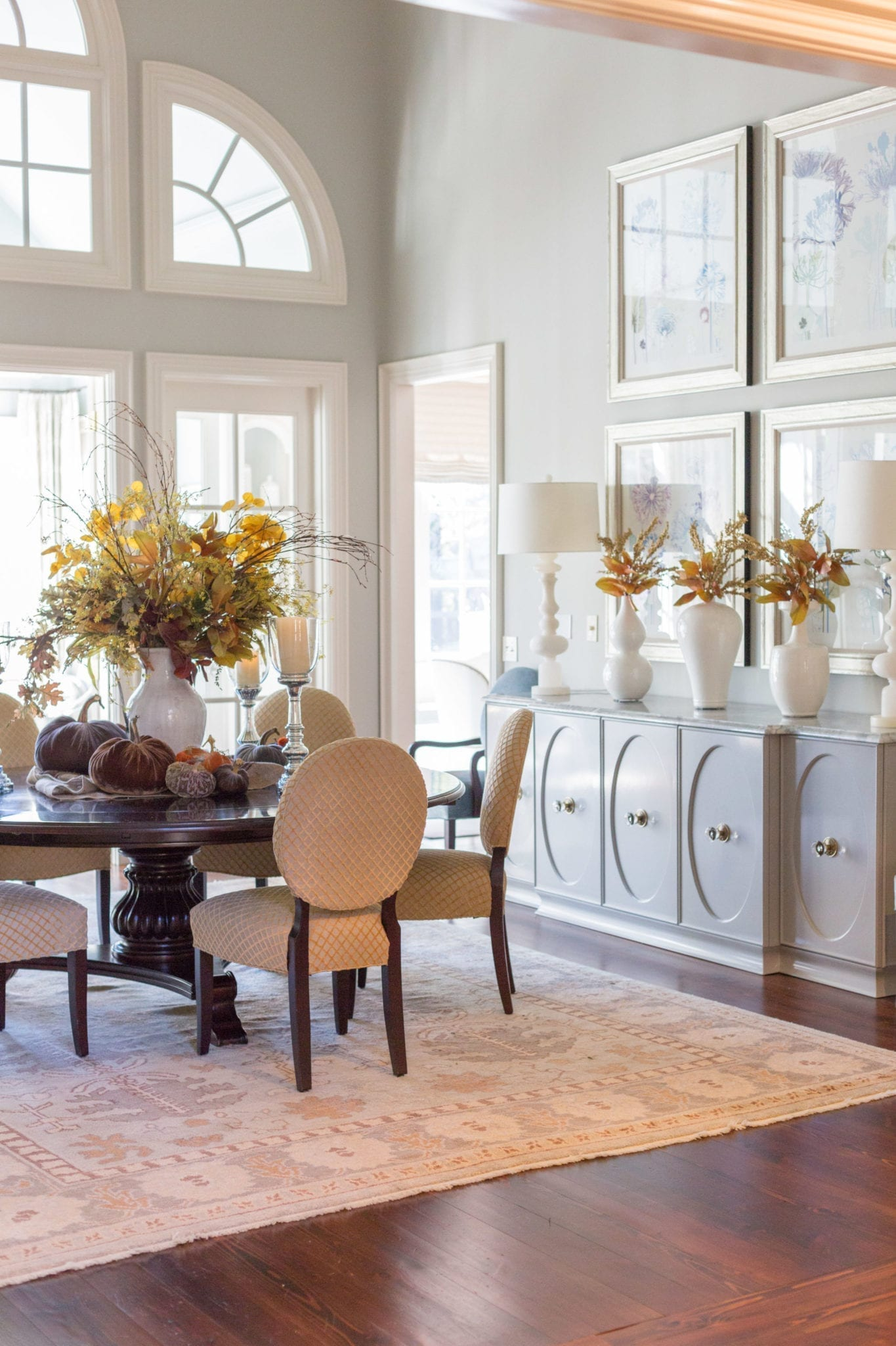 Dining room Decor for Thanksgiving