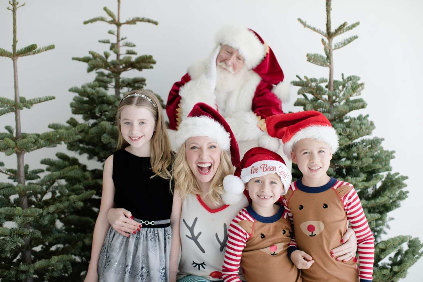 Kids christmas pajamas for family photos for Christmas Cards.