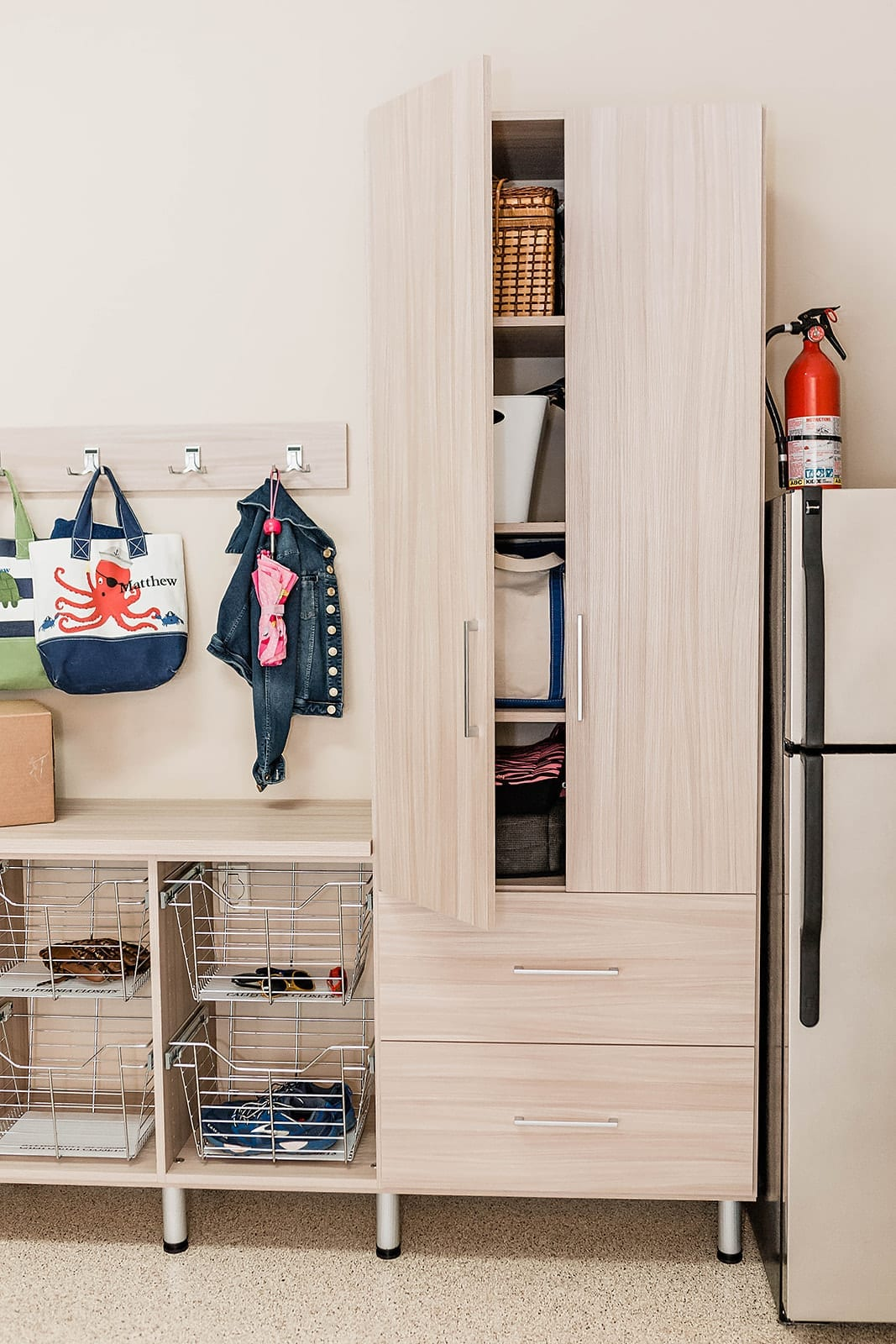 Cleaning and Organizing your Garage - how we changed our garage into a functioning room of the house. See how we store the junk so we can find what we need when we need it!