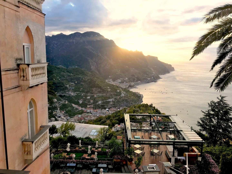 View from Palazzo Avino. Review of Palazzo Avino.