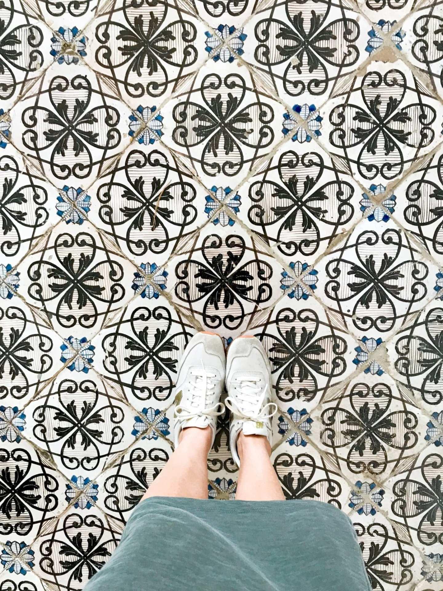 Tile work in Italy. Activities in Ravello, Italy.