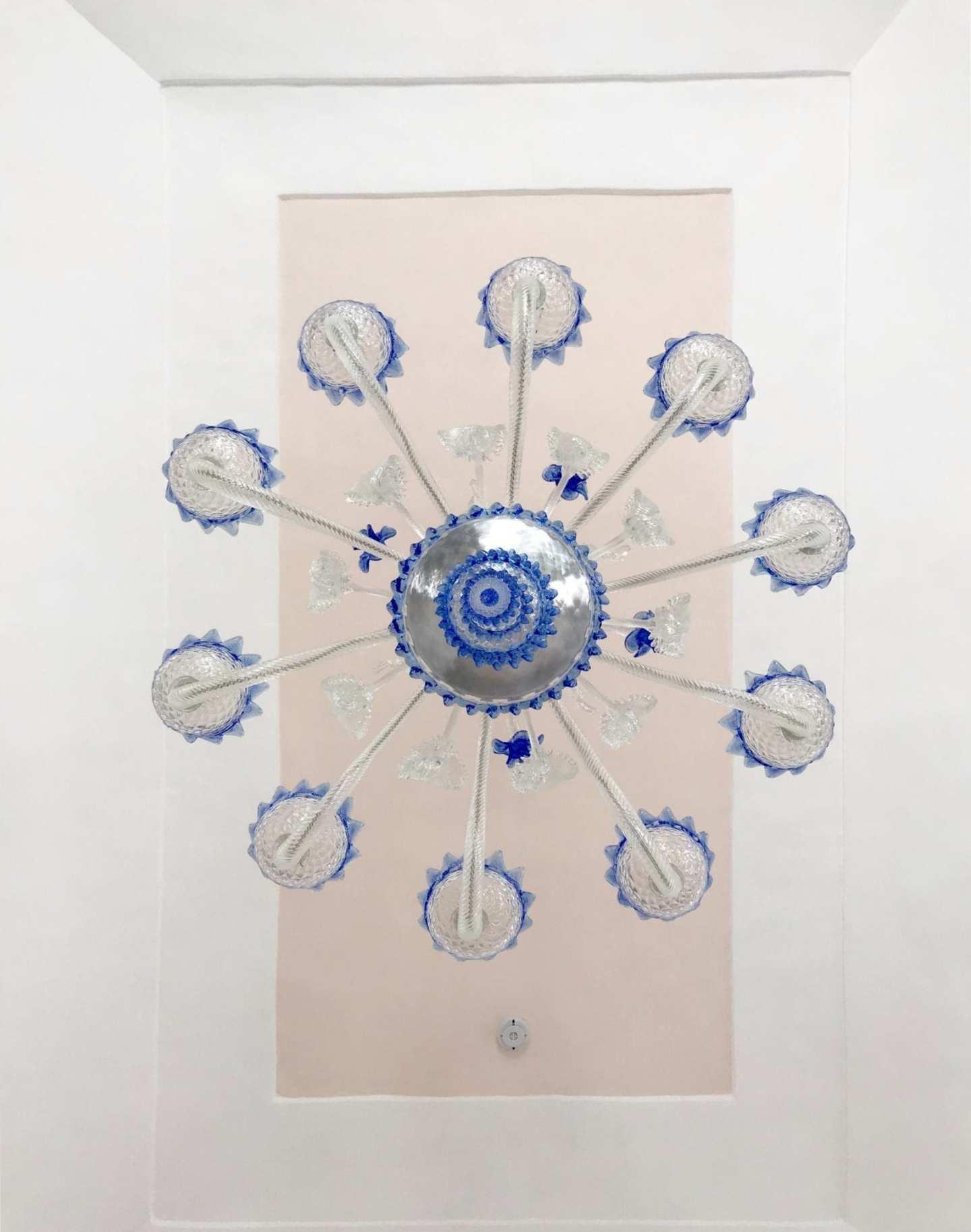 Villa Rufolo blue chandelier.