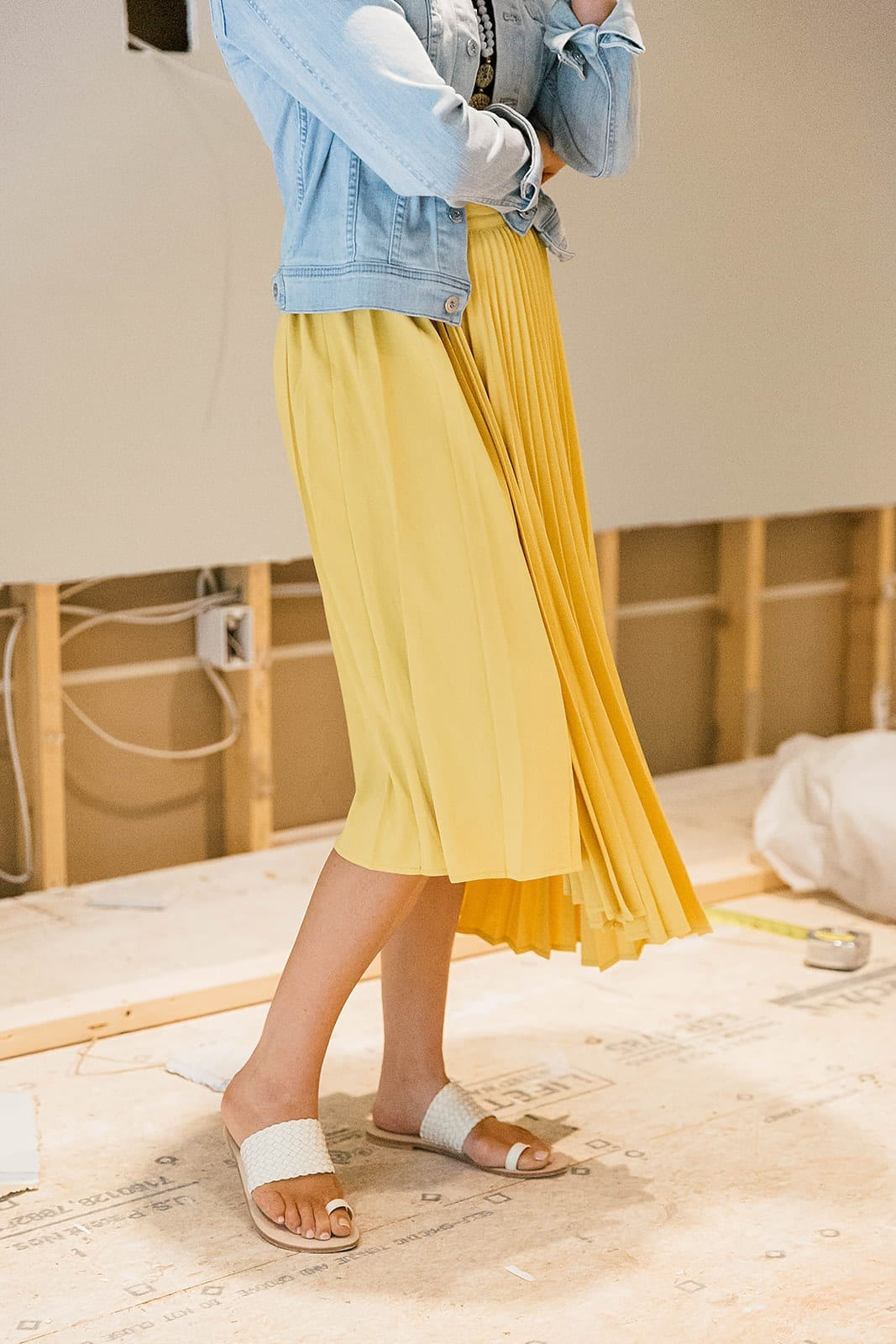 Woven Summer Sandals - what to wear with yellow.