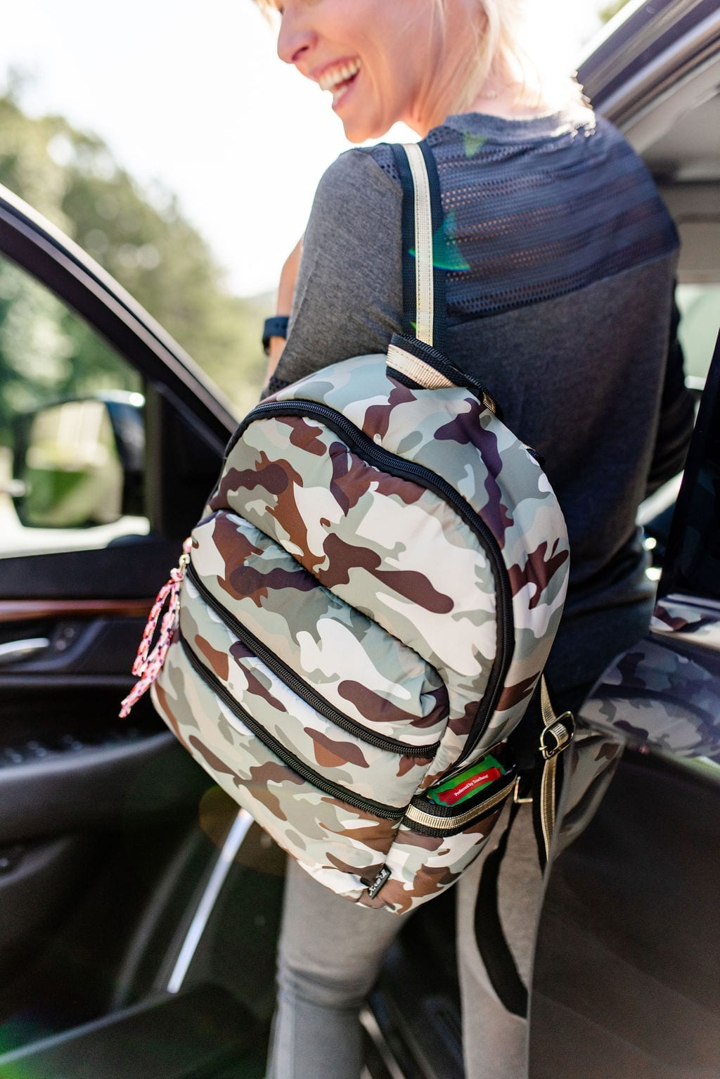 Save time and money on back to school supplies! Walmart Backpacks on Sale for girls. Camo backpack with pink and gold accents.