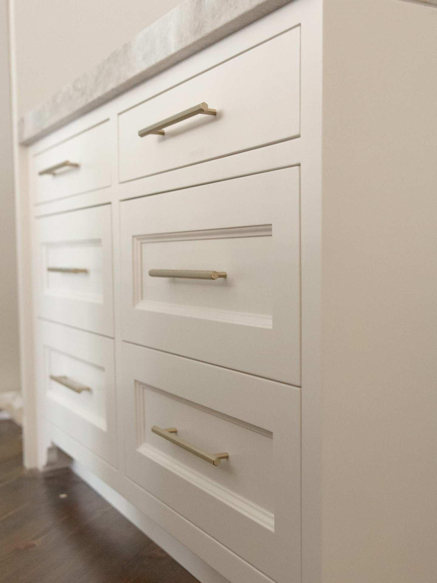 VESTA Bronze Pulls. Modern pulls for cabinetry.