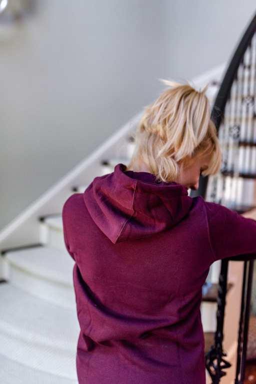 Volcom clothing - athletic sweatshirt great for women in fall. Merlot hoodie.