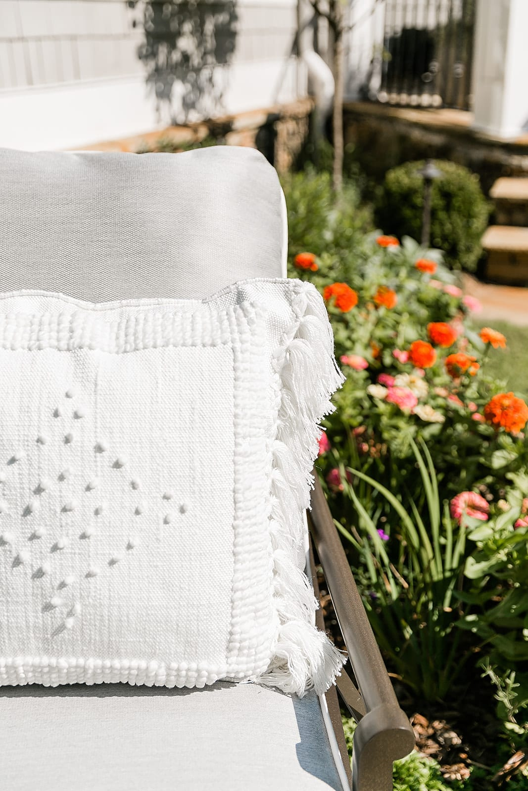 Serena and Lilly Sale. White embroidered throw pillows.