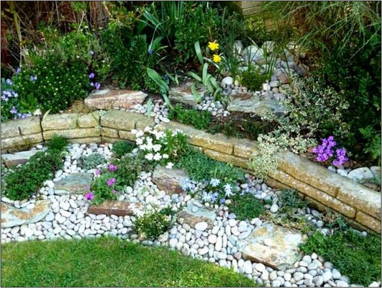 Landscaping Ideas With White Pebbles   Home and Garden Designs