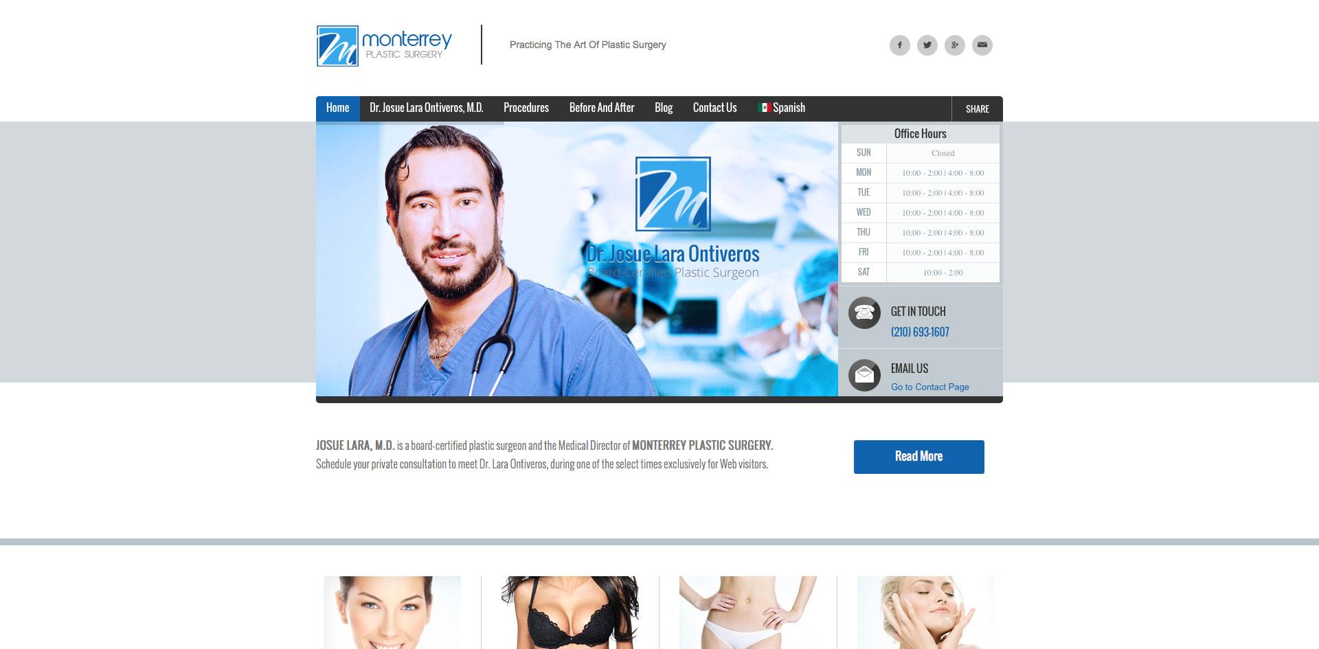 Monterrey Plastic Surgery designed by Blue Guys