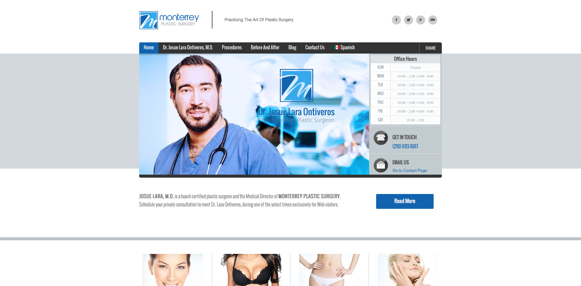 Monterrey Plastic Surgery designed by Blue Guys