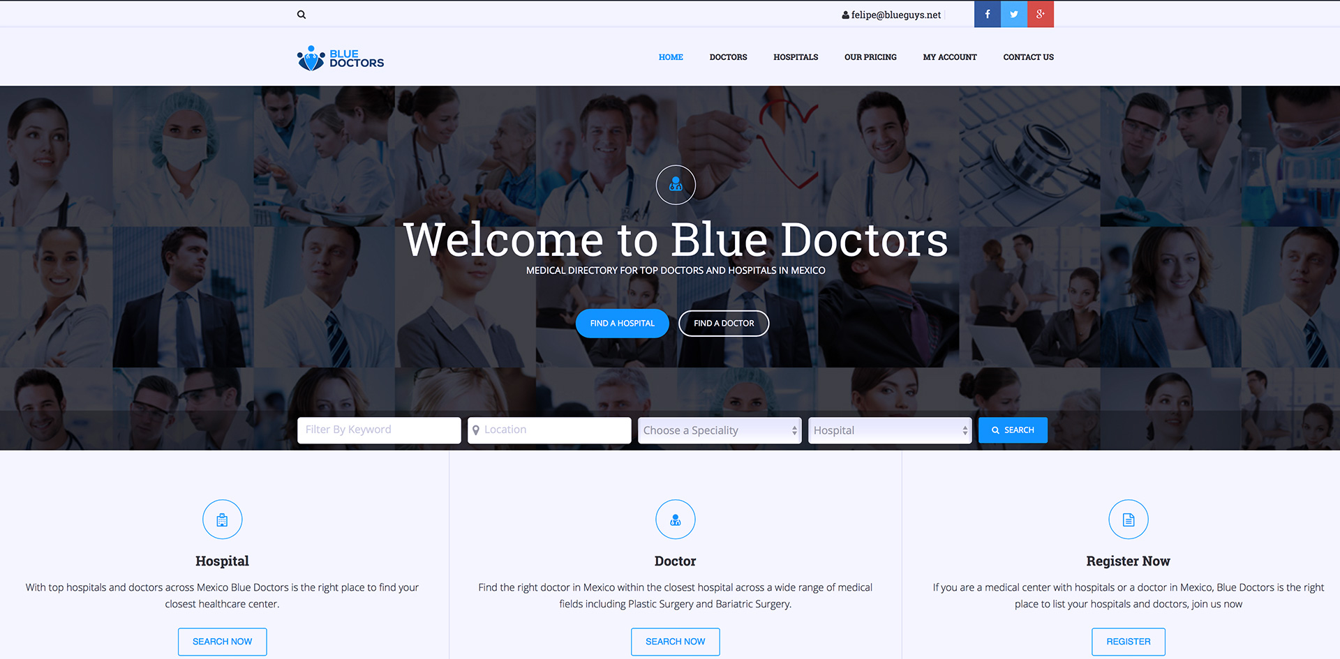 Blue Doctors: Medical Directory in Mexico