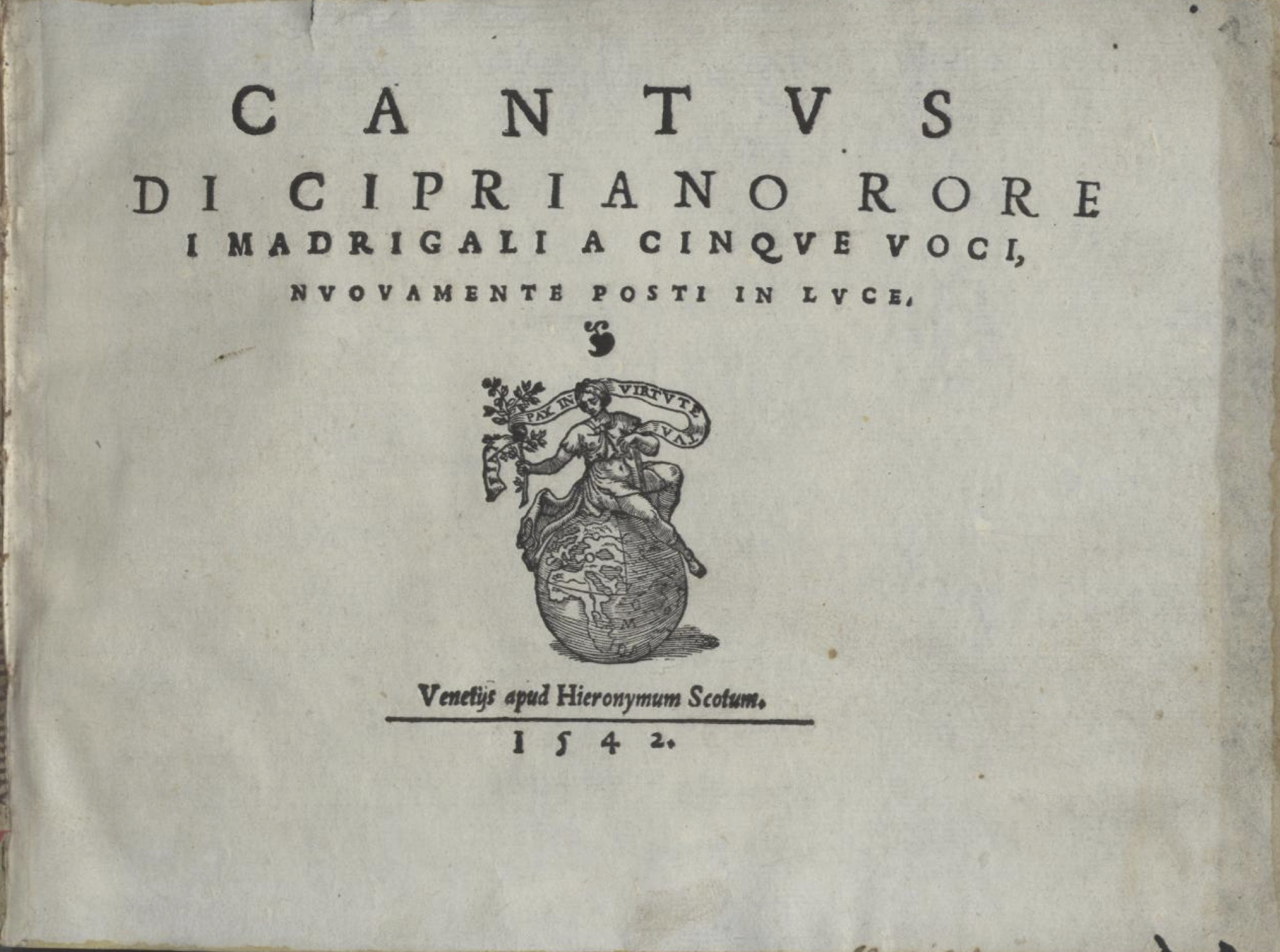 Cantus title page 1542