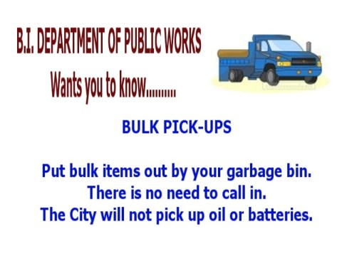 Public Works: Instructions for Bulk Item Pickup