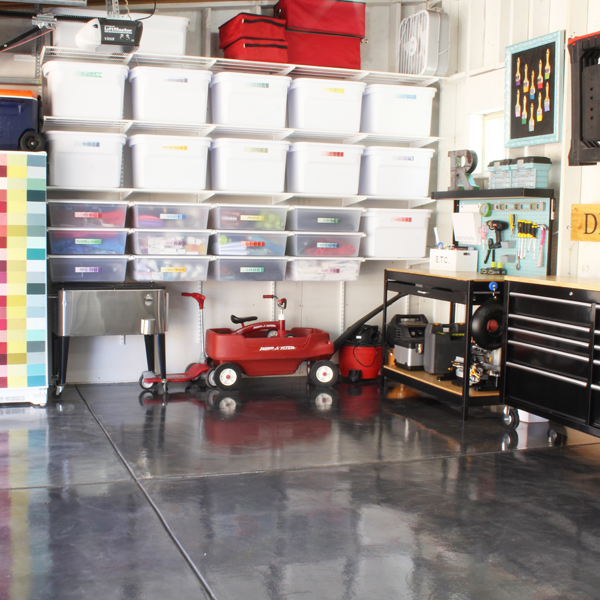 Brilliant Ways to Organize the Garage - Blue i Style on Organized Garage  id=42224