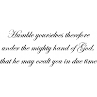 Download Humble yourselves therefore under the mighty hand of God ...