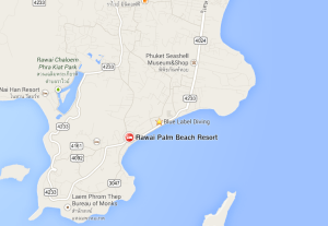 RAWAI PALM BEACH RESORT LOCATION