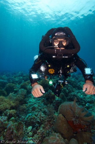 Decompression dives on rebreathers in Indonesia