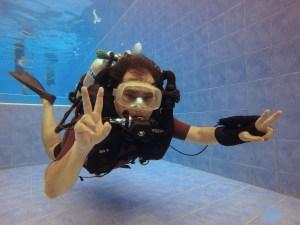 Poseidon Discovery MKVI rebreather free pool trial