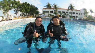 Rebreather divers JJ in Taiwan