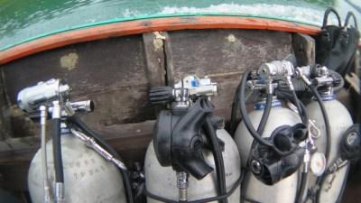 Bail out tanks JJ CCR cave course