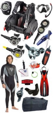 dive equipment set