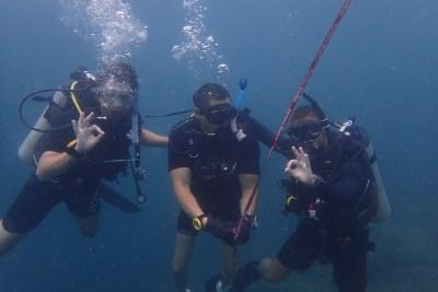 DDI Diving student