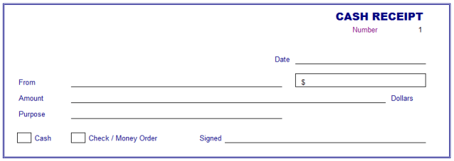 Cash Receipt Template – Free Printable Receipt Forms