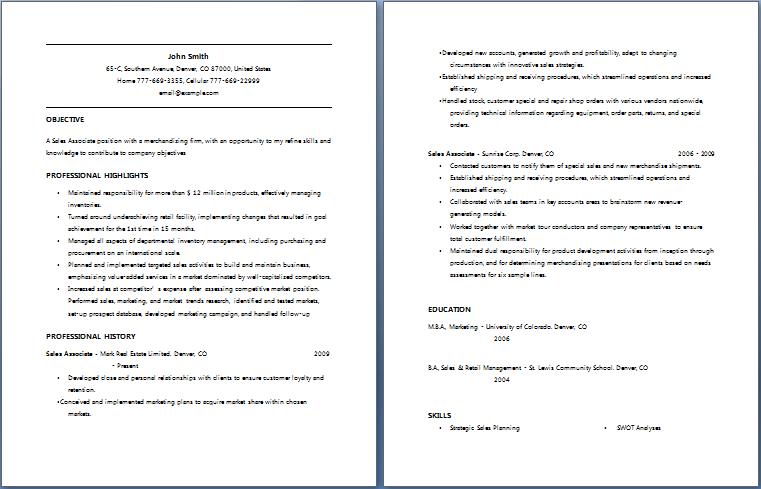 Sales Associate Resume sales associate resume skills resume badak resume badak car sales associate resume Sales Associate Resume Free Layout Format