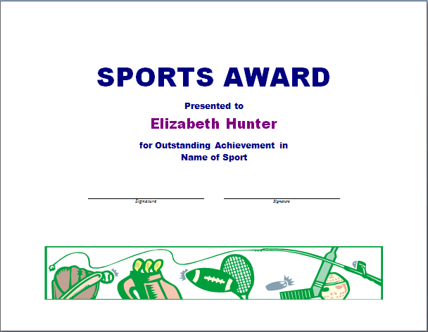 Sample athletic award certificate gallery certificate design and sports award certificate template free choice image certificate sports award certificate template free image collections free yelopaper Gallery