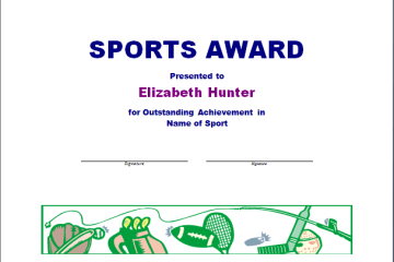 Sports Award Template