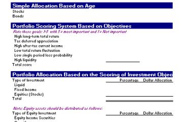 Portfolio Allocation Template