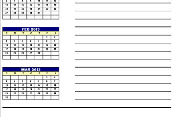 Quarterly Planner Template