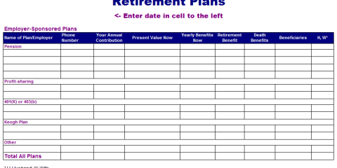 Retirement Plan Template