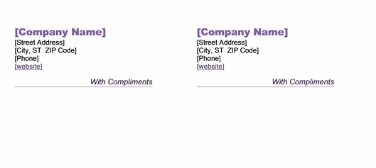 With Compliments Slip Template – Compliment Slip Template