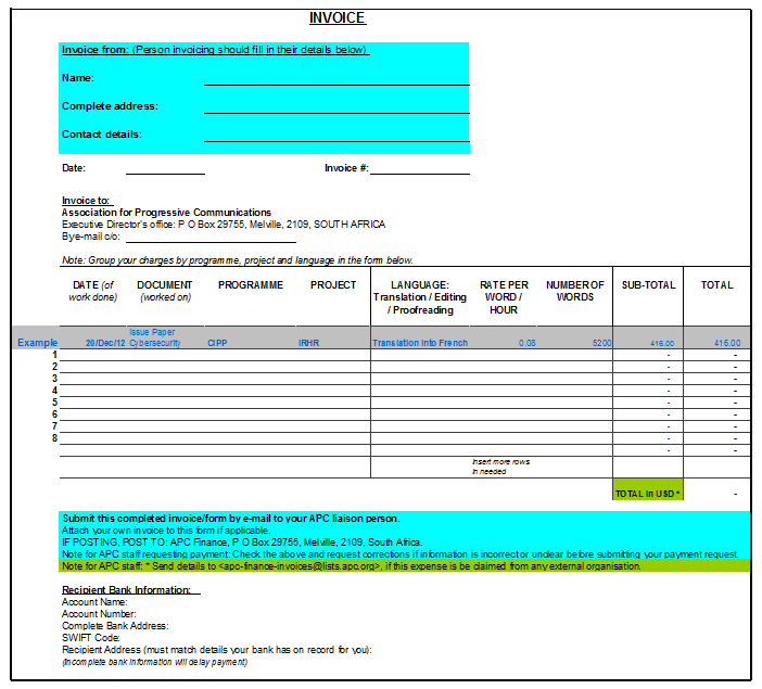 Product Invoice Template 09