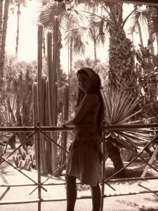 Annie in the Majorelle Garden