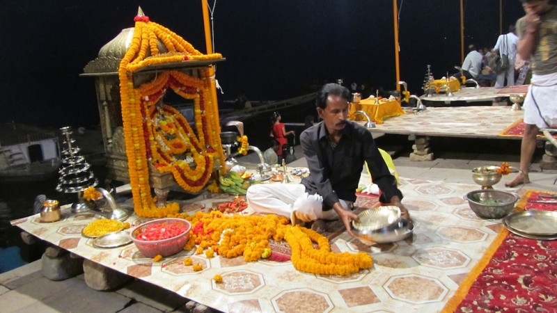 Setting Up For Pooja