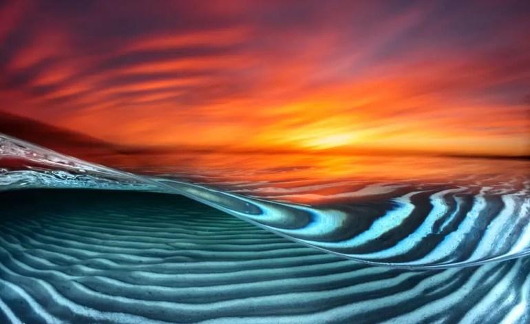 2 miejsce w kategorii Sztuka podwodna Wschód słońca na plaży Hyams Jervis Bay w Australii fot Jordan Robins Ocean Art