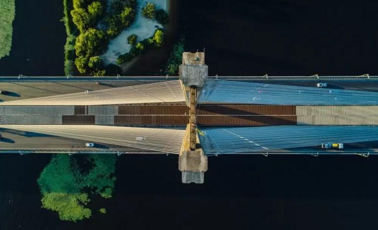 Nowy most na Ukrainie- Dronestagram / MaxWebb