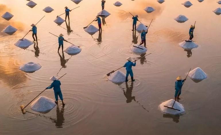 Pole soli Hon Khoi w Wietnamie fot.: Dronestagram / Trung Pham