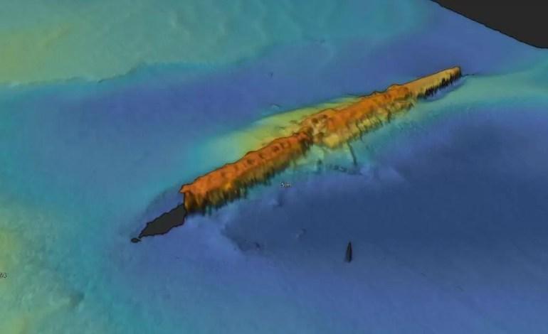 Obraz w wysokiej rozdzielczości niemieckiego okrętu podwodnego UC-47 fot.:  Tolmount Development