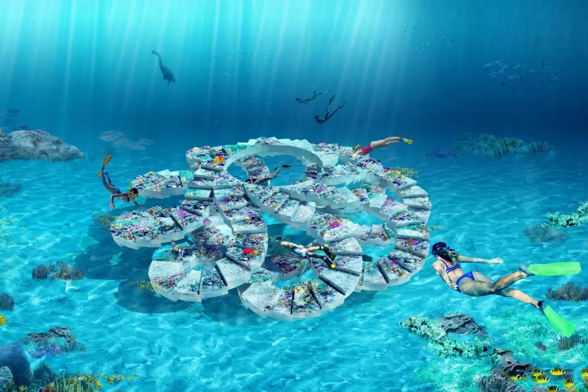 Podwodny park rzeźb ReefLine szlak nurkowy