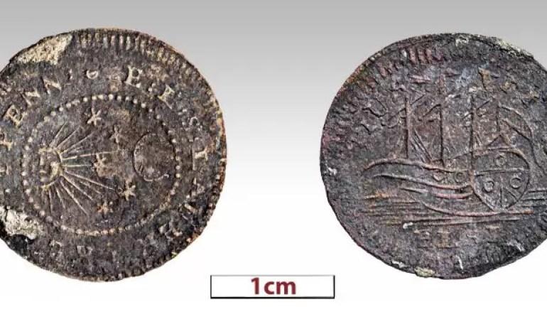 Moneta znaleziona przy wraku Mentora, statku, który przywiózł z Grecji marmury Partenonu. Źródło: Ministerstwo Kultury Grecji