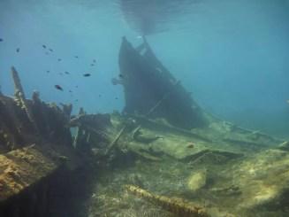Nieznany wrak statku z II wojny światowej Greckie wody obszaru chronionego