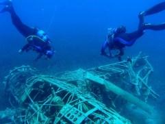 Wrak samolotu Arrado podwodne zwiedzanie muzeum