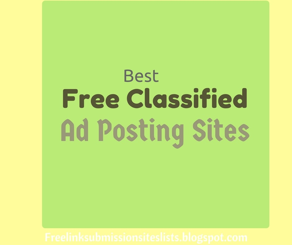 Classified Site Submission list dubai