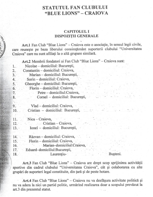 statut juridic 1999