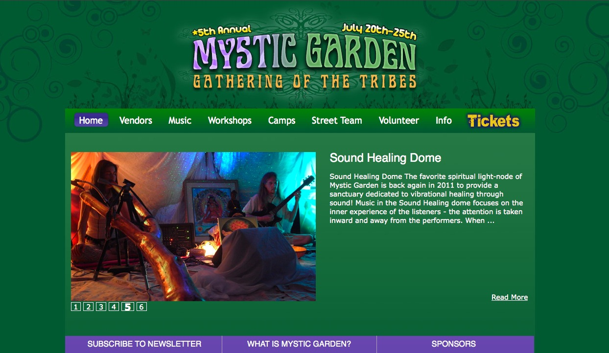 Custom Wordpress Site for Music & Arts Festival