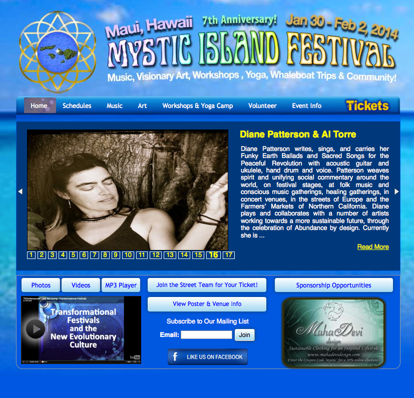 Music Festival Web Design