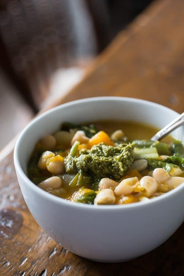 8 Winter Soups | butternut squash minestrone
